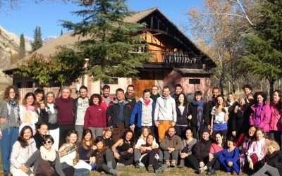 Fotos de yoga y respiración en el Pirineo – Seminario de Formación de Profesores en Morillo de Tou (Huesca), nov-2017