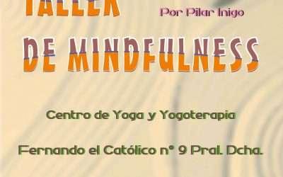 Taller de Mindfulness con Pilar Ínigo. Sábado 3 de marzo de 2018