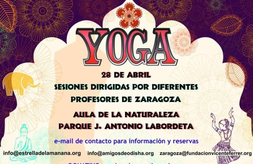 V Jornadas de India en Zaragoza. Sesiones de yoga con diferentes profesores, sábado 28 abril 2018