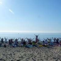 Fotos de la Convivencia de Yoga y Yogaterapia en el Hotel Pino Alto, Miami Playa (Tarragona). Días 1 y 2 de junio de 2019