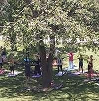 Fotos del Día de Yoga en el Parque Grande. Asociación Aragonesa de Yoga y Yogaterapia (AAYYT)