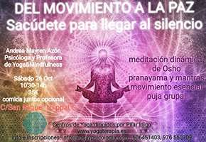 Taller: Del movimiento a la paz. (Sábado 26 de octubre, Centro San Miguel)