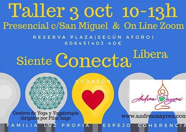Taller «Siente, Conecta, Libera». (Centro San Miguel, 3 de octubre)
